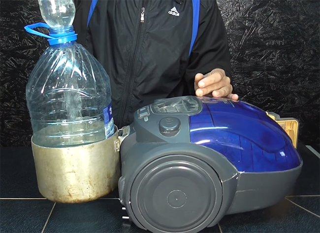 самодельный водяной фильтр для пылесоса