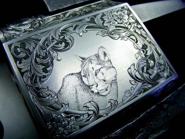 рисунок по металлу выполнен зубчатой шарошкой