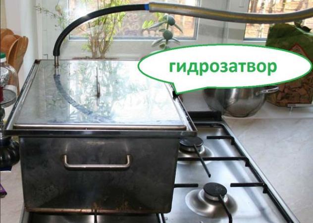 коптильня с гидрозатвором для газовой плиты