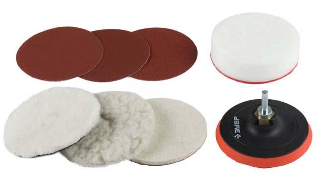 различные сменные диски для полировальной насадки