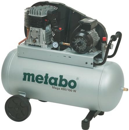 поршневой двухцилиндровый компрессор Metabo Mega 490