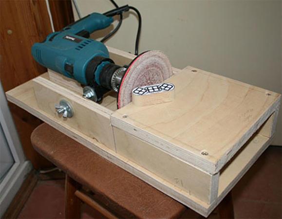 самодельный шлифовальный станок с применением тарельчатой насадки