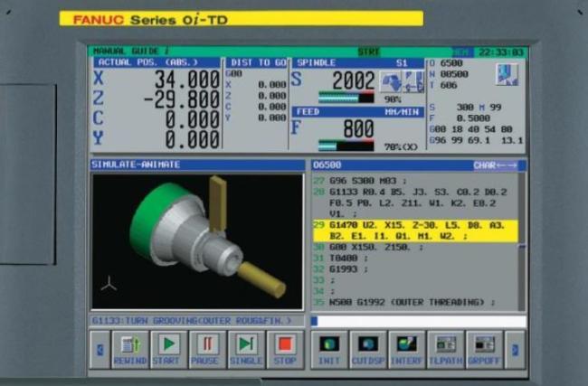 интерфейс управления станком