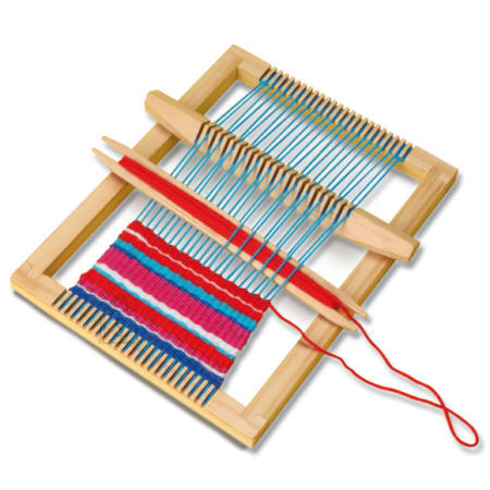 небольшой самодельный ткацкий станок