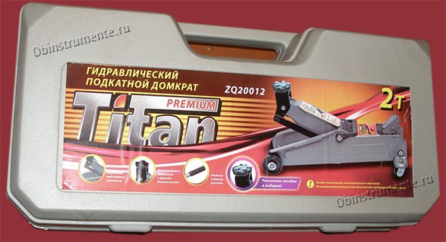 подкатной домкрат на 2т Титан