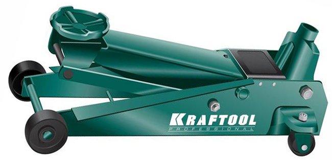 гидравлический подкатной домкрат Kraftool 3 т