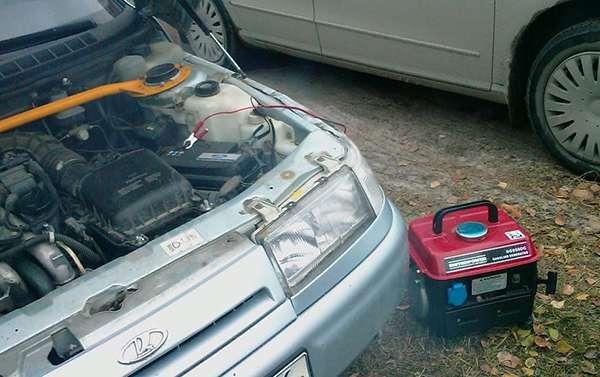 прикуриваем авто от зарядного устройства