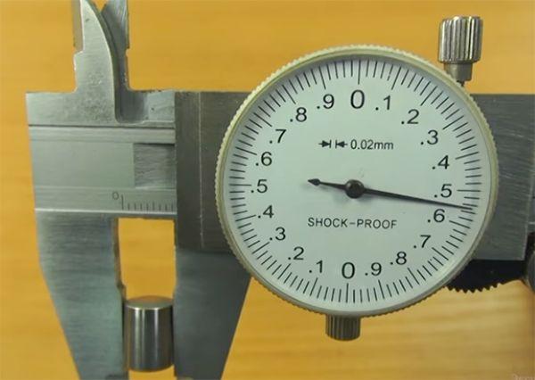 Считывание размера со штангенциркуля ШЦК