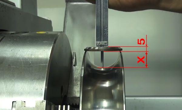 измерение диаметра канавки