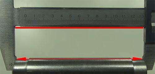 Параллельность к поверхности штанги